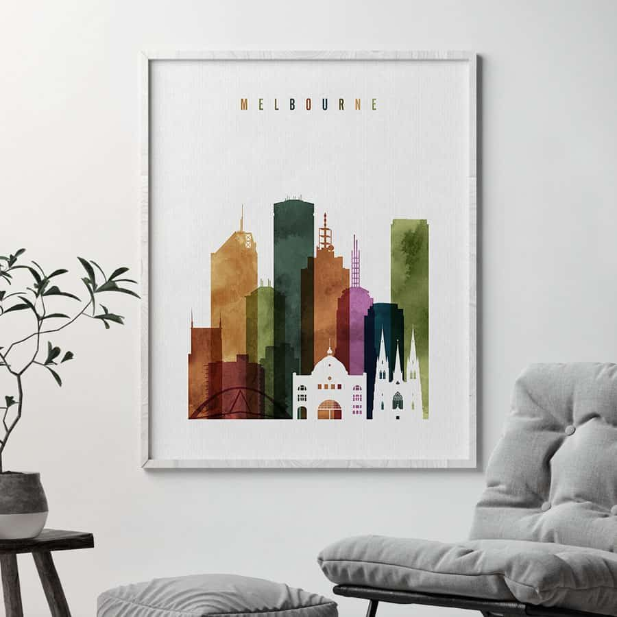 Melbourne poster watercolor 3 second
