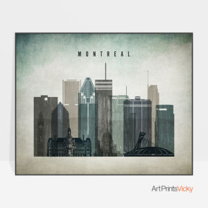 Montreal Poster Landscape Distressed 3