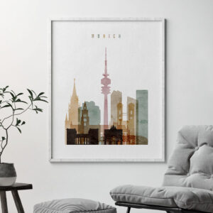 Munich poster watercolor 1 second