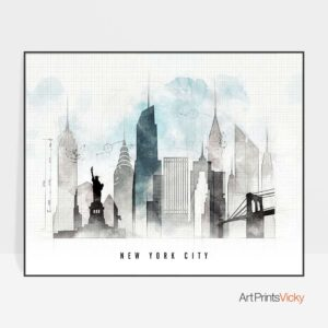 New York skyline landscape urban