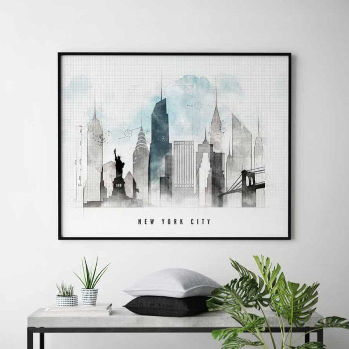 New York skyline landscape urban second