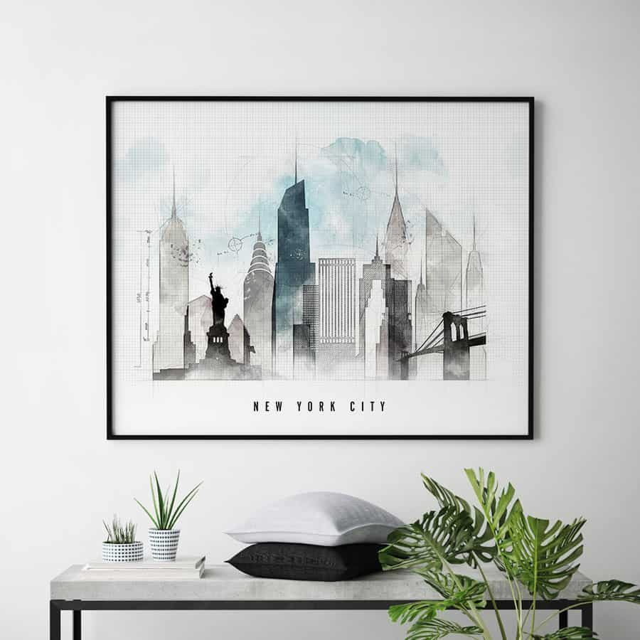 New York skyline landscape urban second