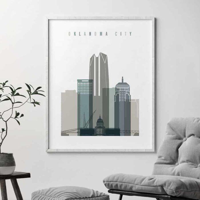 Oklahoma City skyline earth tones 4 second
