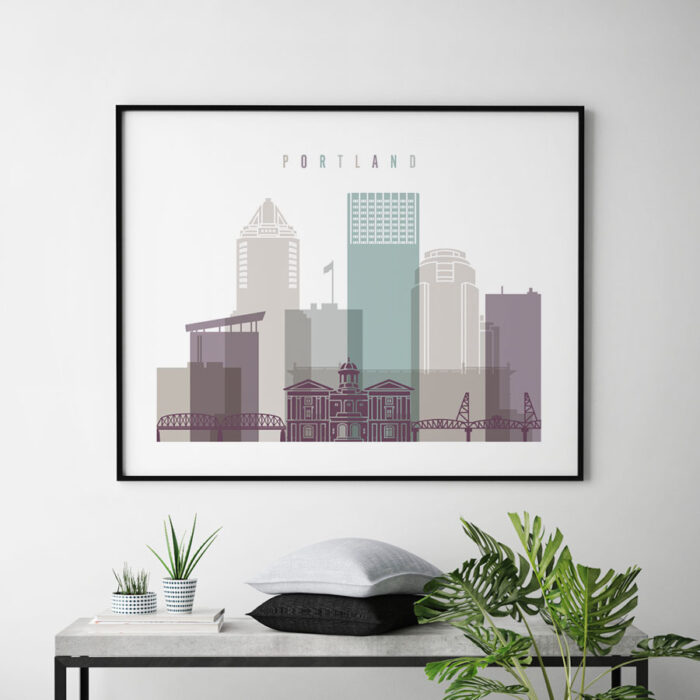 Portland poster landscape pastel 2 second