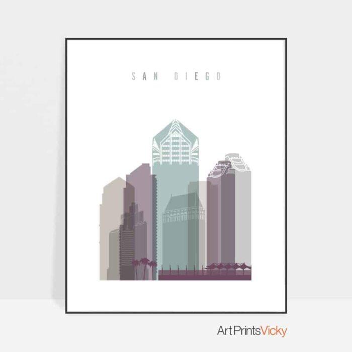 San Diego poster pastel 2