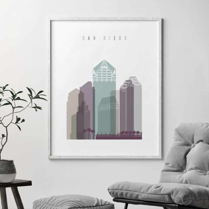 San Diego poster pastel 2 second