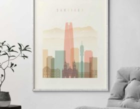 Santiago poster pastel cream second