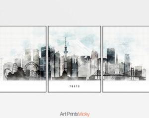 Tokyo 3 prints set urban