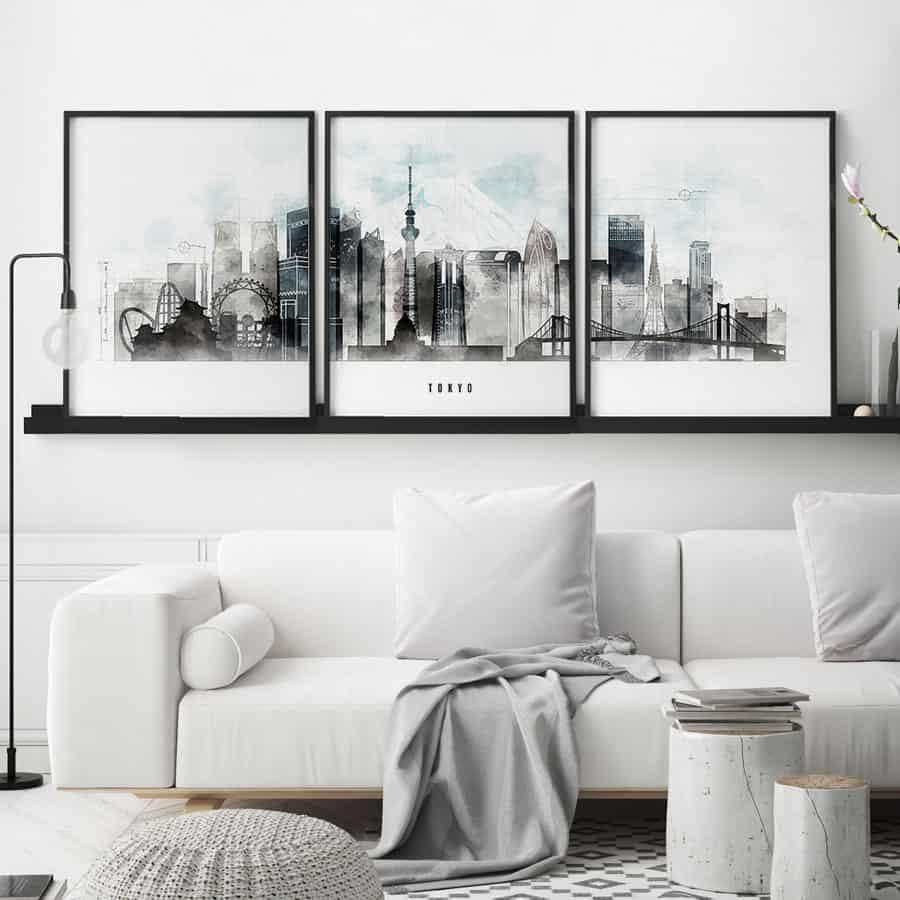 Tokyo 3 prints set urban second