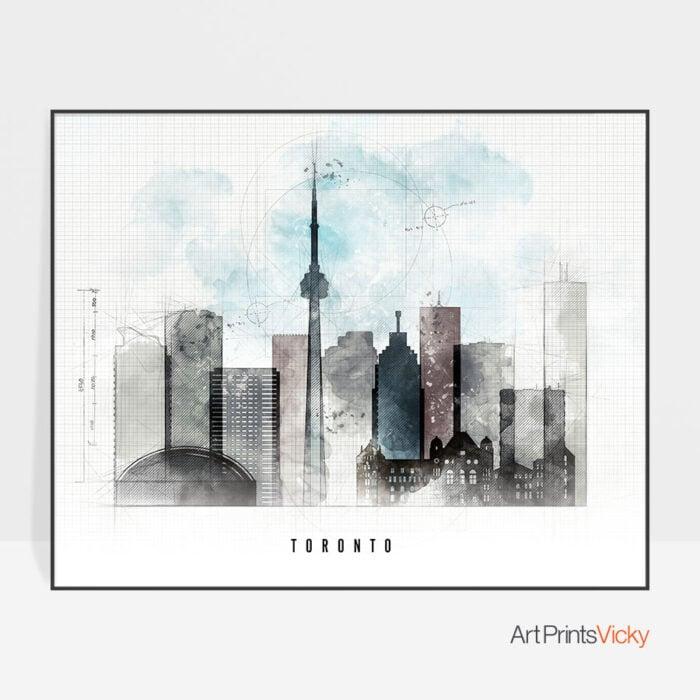 Toronto skyline landscape urban