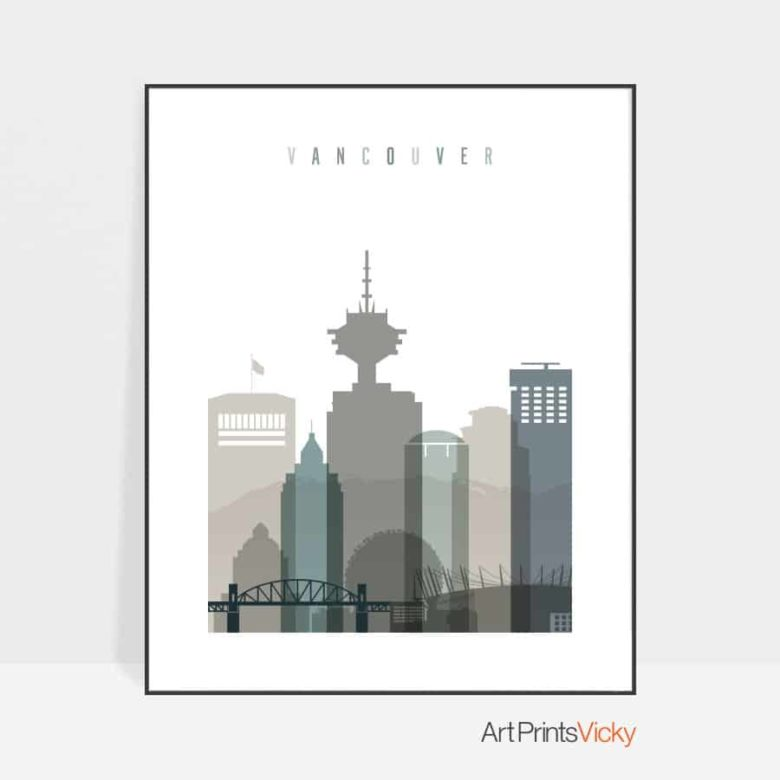 Vancouver poster earth tones 4