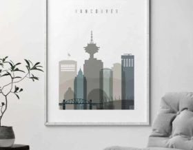 Vancouver poster earth tones 4 second
