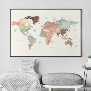 World map print large second