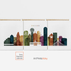 3 panel canvas city prints first