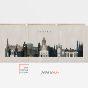3 panel canvas city prints second