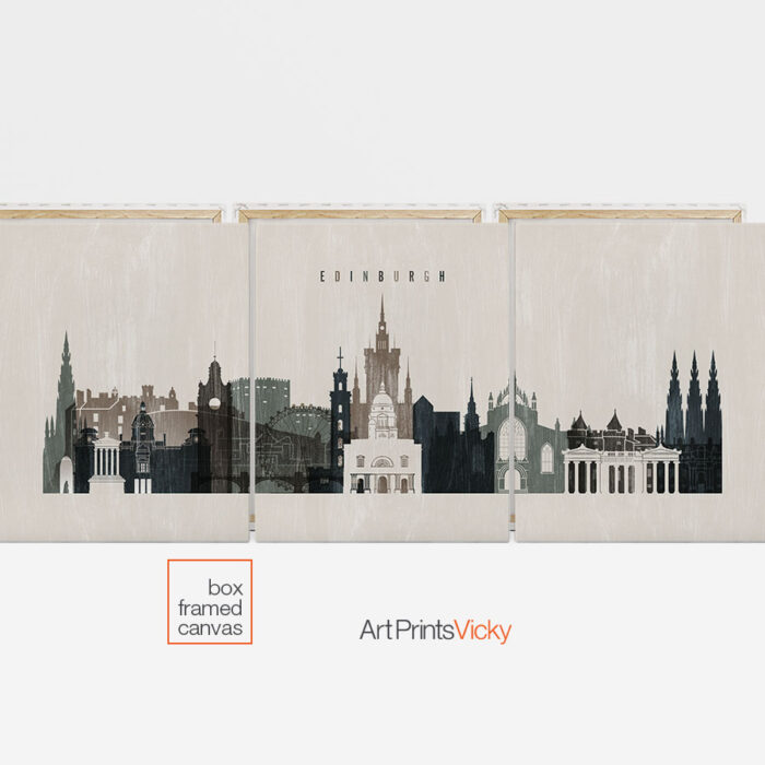 3 panel canvas city prints second