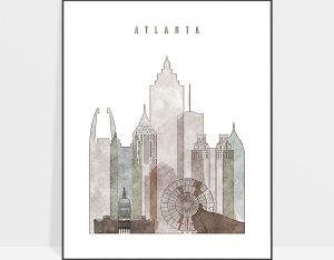 atlanta drawing poster photo