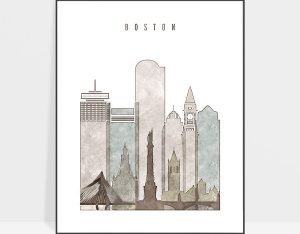 boston drawing poster photo