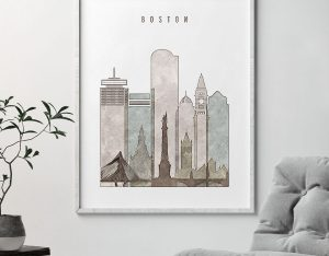 boston drawing poster second photo