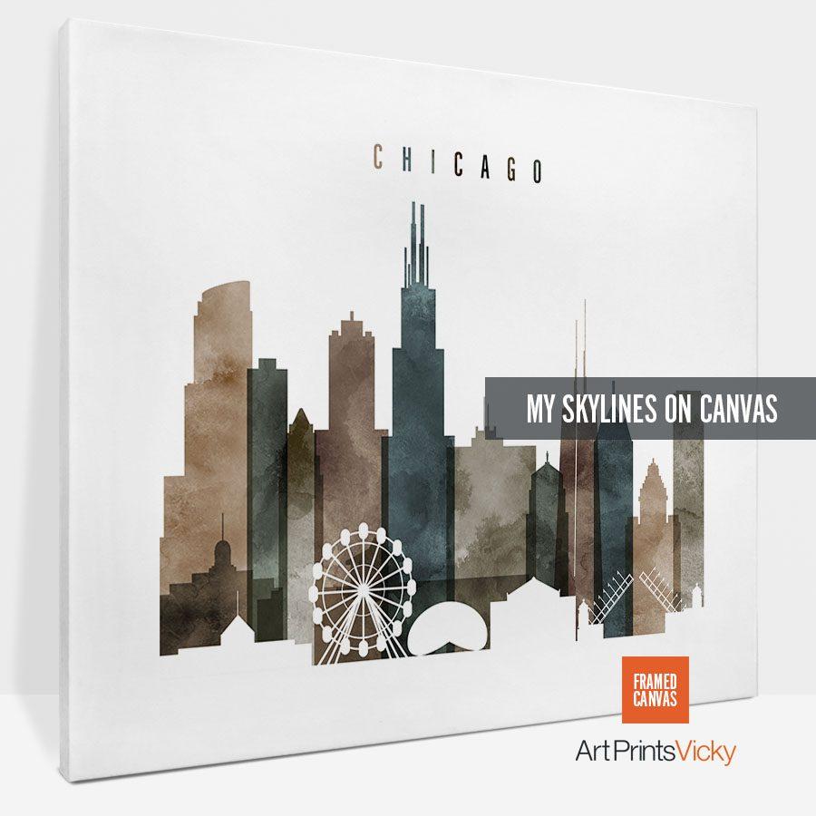 canvas skyline poster landscape 1 photo