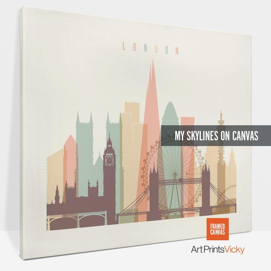 canvas skyline poster landscape 2 photo