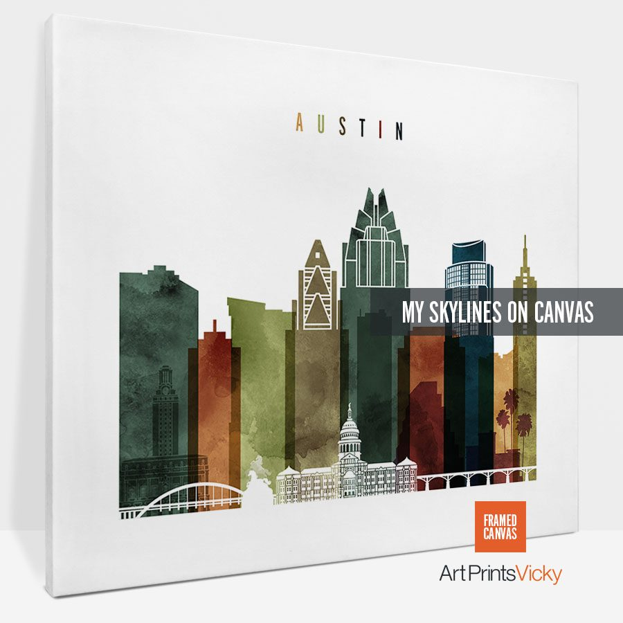canvas skyline poster landscape 3 photo