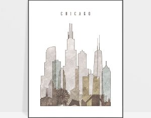 chicago drawing poster photo