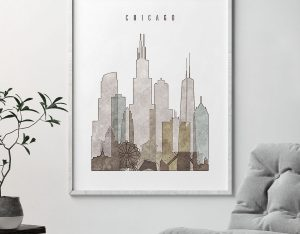 chicago drawing poster second photo