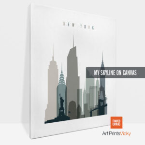 canvas skyline print vertical 1 photo