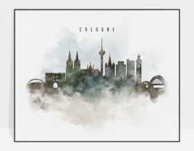 cologne watercolor poster photo