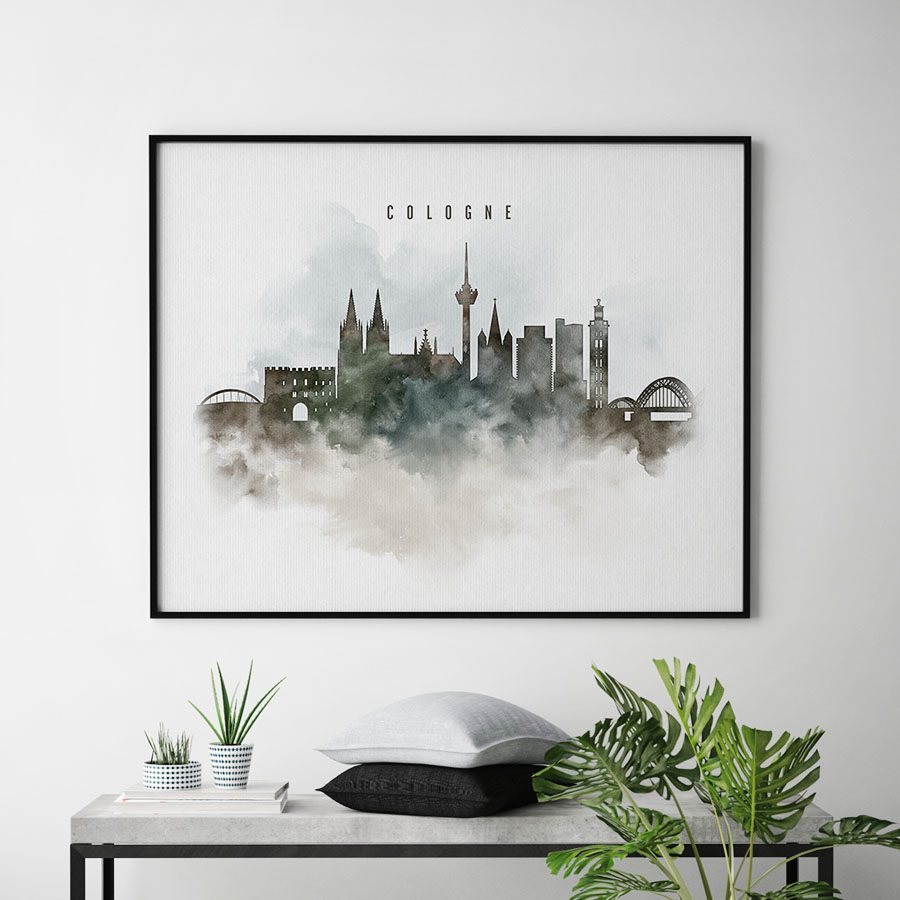 cologne watercolor poster second photo