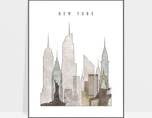 new york drawing poster photo