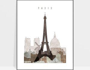 paris drawing poster photo