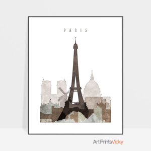 paris drawing poster photo