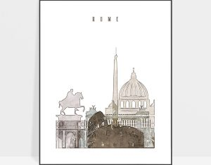 rome drawing poster photo