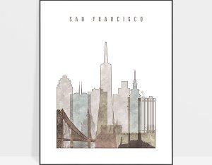 san francisco drawing poster photo