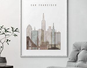 san francisco drawing poster second photo