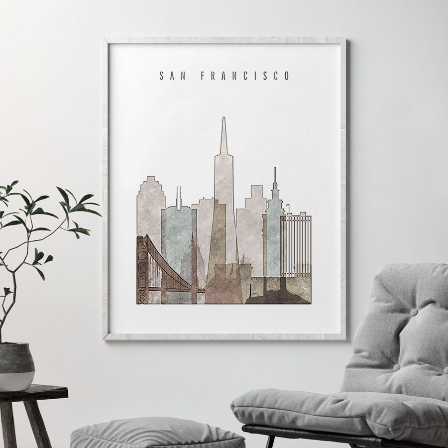 san francisco drawing poster second photo