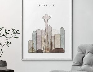 seattle drawing poster second photo