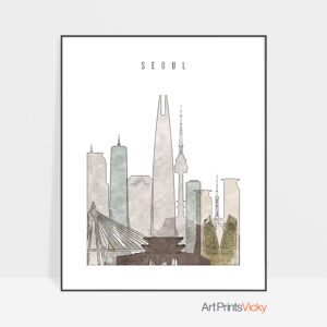 Seoul drawing poster photo