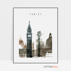 venice watercolor 2 poster