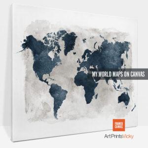world map canvas prints photo 1