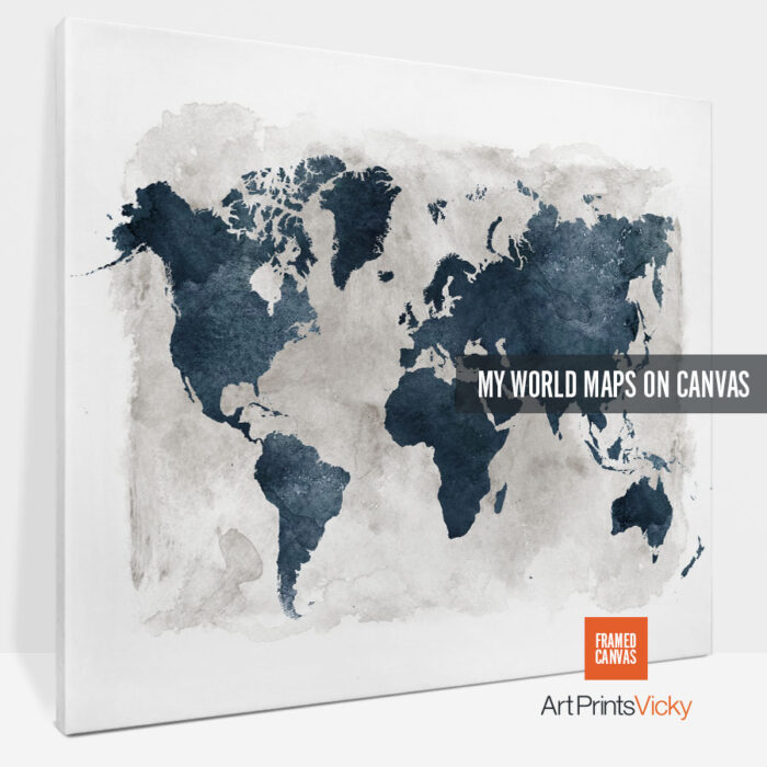 world map canvas prints photo 1