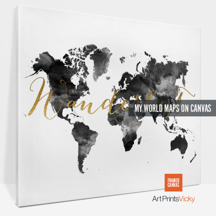 world map canvas prints photo 4