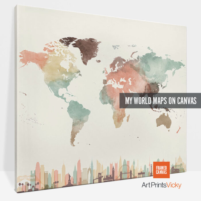 world map canvas prints photo 3