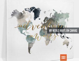 world map canvas prints photo 2