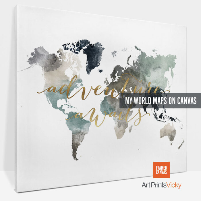 world map canvas prints photo 2