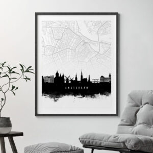 Amsterdam map print second