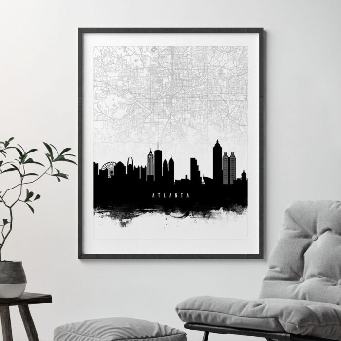 Atlanta Map Print second photo