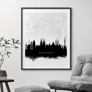 Barcelona Map Print second